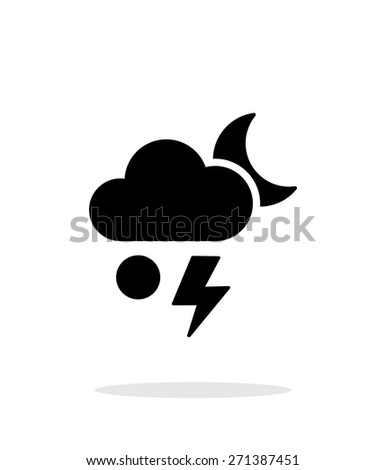 Hail at night weather simple icon on white background. Vector illustration. - stock vector