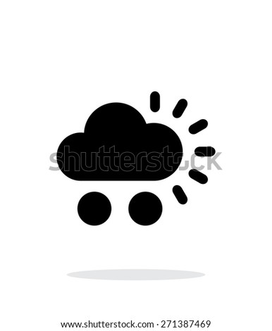 Hail weather simple icon on white background. Vector illustration. - stock vector