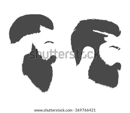 man with beard profile stock vectors amp vector clip art