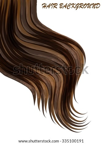 hair background - stock vector
