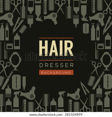 Hair Dresser Background Vector Illustration  - stock vector