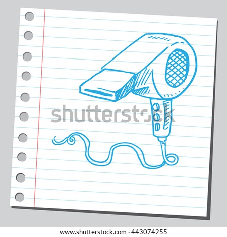 Hair dryer - stock vector