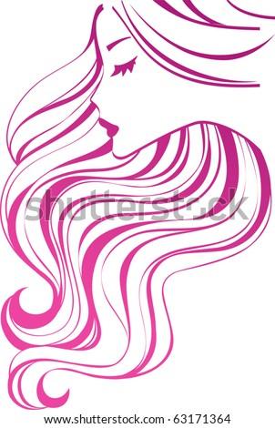 Hair icon - stock vector