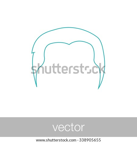 hair icon. concept flat style design illustration icon. - stock vector