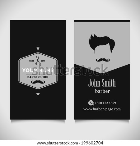 Hair salon barber shop business card stock vector hd royalty free hair salon barber shop business card design template accmission Images