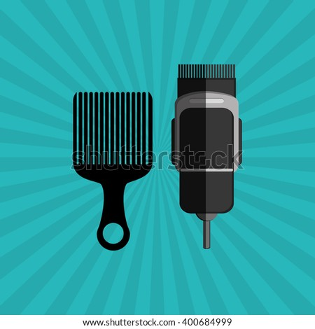 Hair salon design, vector illustration