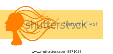 Hair Salon Logo – Add your own product name. - stock vector