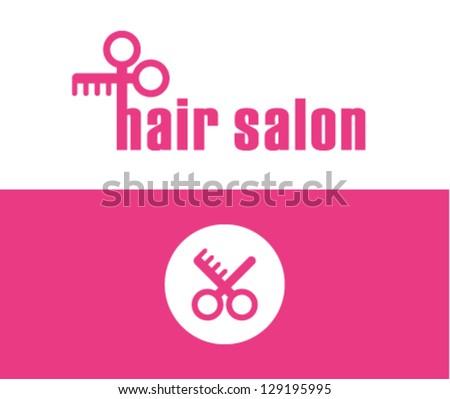 Hair salon symbol - stock vector