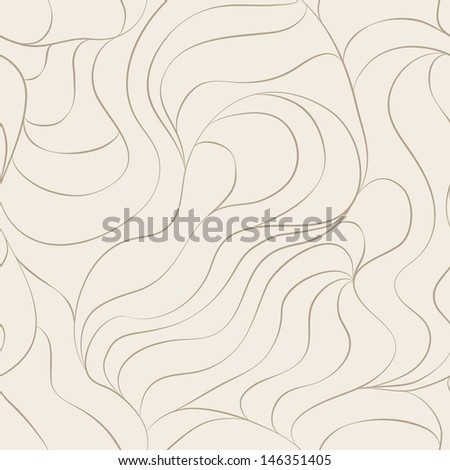 hair seamless pattern - stock vector