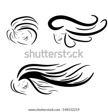 Hair stile icon logo isolated - stock vector