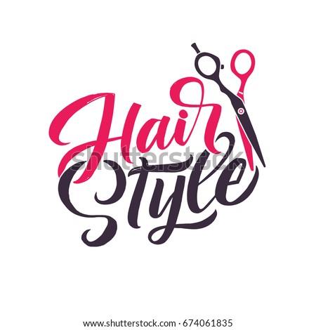 hairdresser logo stock images royaltyfree images
