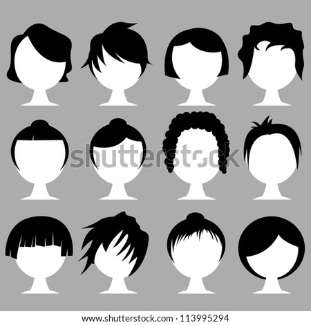 Hair Styles Stock Vector 113995294 Shutterstock