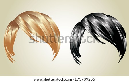 hair styling for woman - stock vector