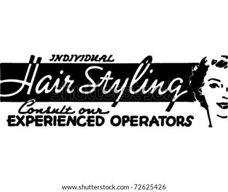 Hair Styling - Retro Ad Art Banner