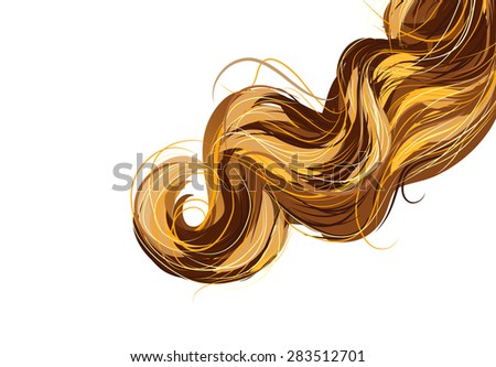Hair vector background - stock vector