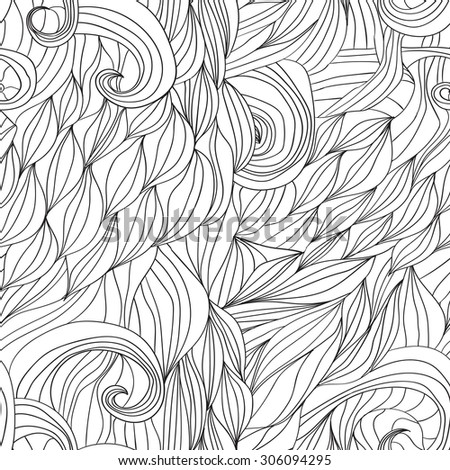hair waves abstract background Vector image 1 - stock vector