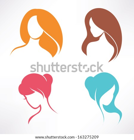 haircut icons set - stock vector