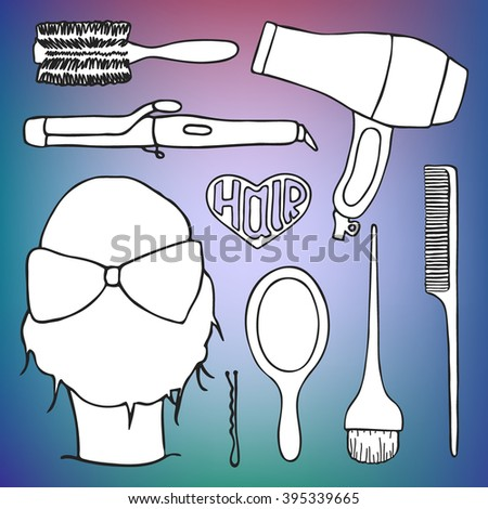 Hairdressing tools set