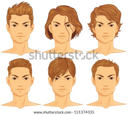 animated hair styles curly hair stock images royalty free images amp vectors 8468 | stock vector hairstyles set 151374335