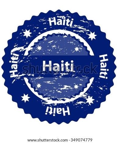 Haiti Country Grunge Stamp - stock vector