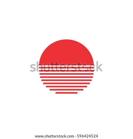 Beautiful Half Circle Lines Art Design Logo Stock Vector 596424524  PV78