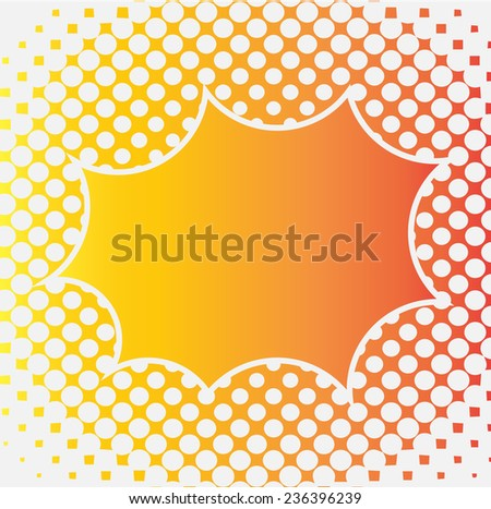 halftone background for design - stock vector