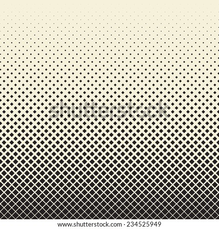 halftone background of rhombuses - stock vector