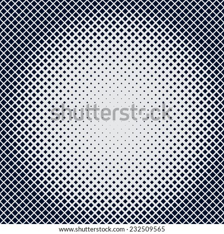 halftone background of squares shaped in radial orientation - stock vector
