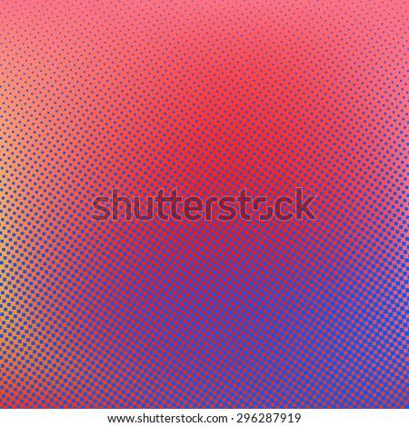 Halftone background. Red blue violet orange creative vector illustration - stock vector