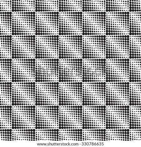 Halftone  background seamless pattern -vector abstract dotted seamless pattern background squares - stock vector