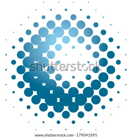 Halftone ball - stock vector