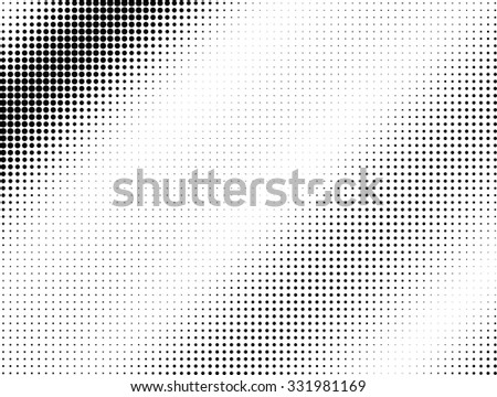 Halftone black dotted wave background pattern - stock vector