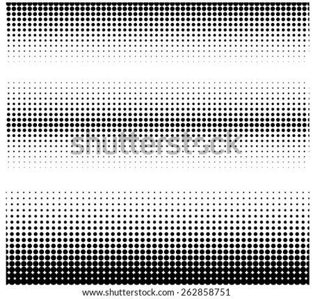 Halftone borders - stock vector