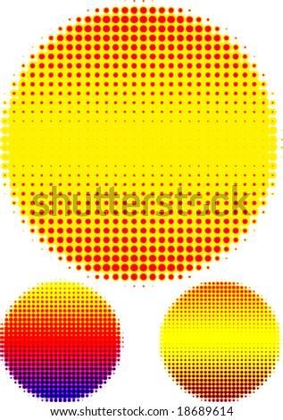 Halftone circles - stock vector