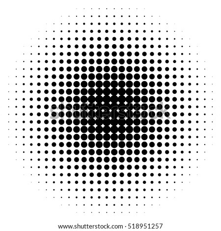 halftone circles halftone dot pattern stock vector royalty free