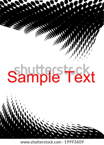 Halftone design with copy space