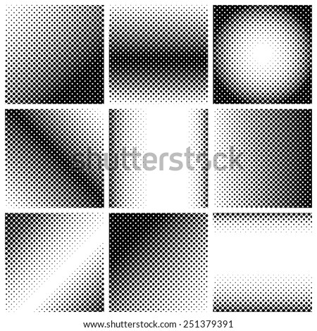 halftone dots. Black dots on white background, vector, illustration - stock vector