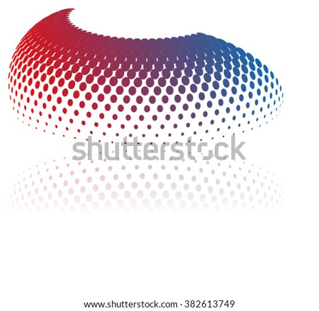 halftone Dots Circle Design.logo Vector