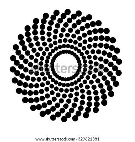 Halftone Dots Circle. Vector Illustration .