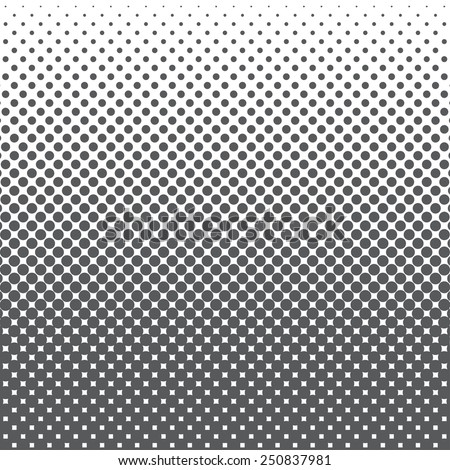 halftone dots pattern. Black dots on white background, vector, illustration - stock vector