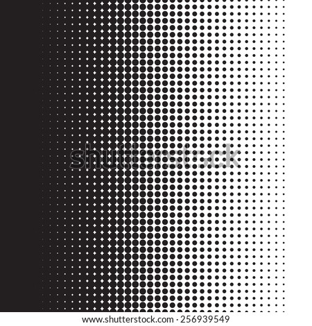 Halftone dots pattern gradient in vector format - stock vector