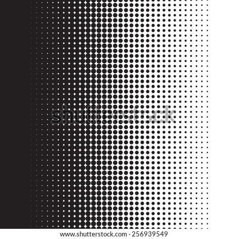 Halftone dots pattern gradient in vector format - stock vector