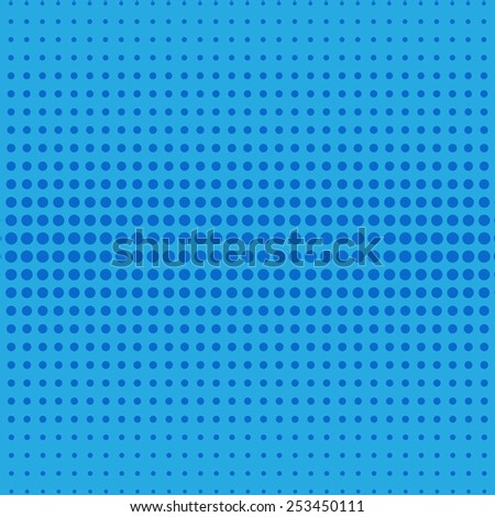 Halftone effect texture blue color - stock vector