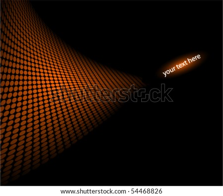 halftone illustration for your message (NO TRANSPARENCY) - stock vector