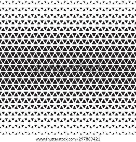 Halftone monochrome geometric pattern - stock vector