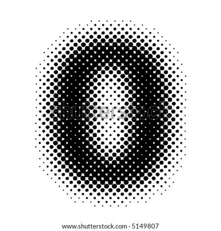 halftone number (vector) - part of a full set