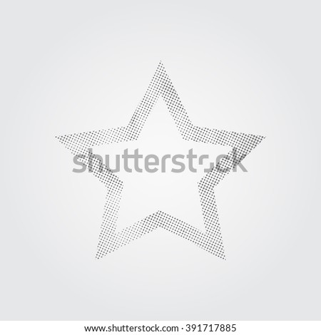 Halftone star. Background with halftone star. Halftone star texture. Vector halftone. - stock vector