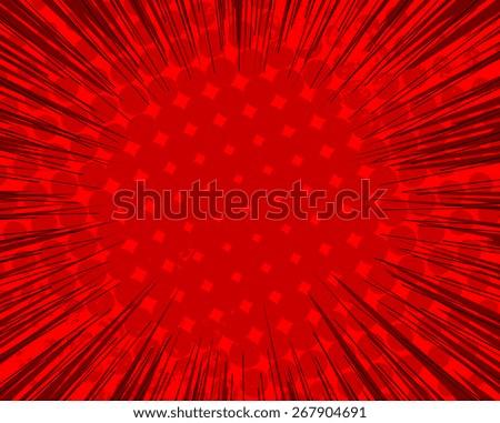 Halftone Sunburst Background - stock vector