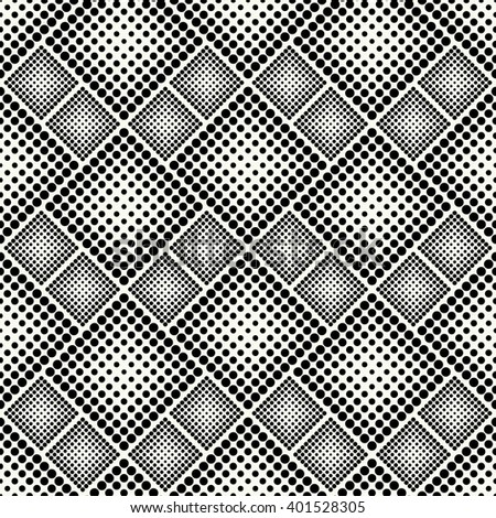 Halftone vector background. Abstract vector halftone seamless pattern. Modern black and white seamless background. Monochrome vector halftone wallpaper. Dotted seamless pattern. - stock vector