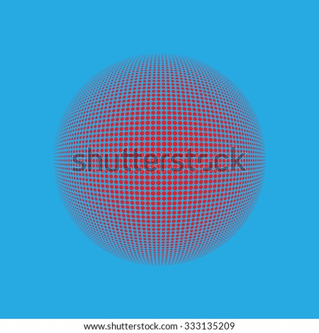 Halftone vector logo template. Colorful round icon, abstract globe symbol, business concept. Abstract colorful dotted sphere. Science and tourism, technology or financial background